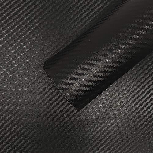 4R Quattroerre.it 16251 Foglio Pellicola Adesivo Carbon Look, 50 x 70 cm