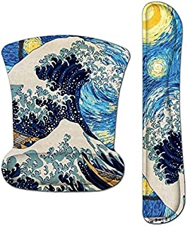 JALIFASO Wrist Rests for Keyboard and Mouce Ergonomic Mouse Pad with Wrist Support Gel Set Easy Typing and Pain Relief, No...