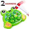 rolimate Interactive Whack A Frog Game, Durable Pounding Hammering Toy Early Developmental Learning Toy for 3, 4, 5, 6, 7, 8 Year Old Boys Girls, Fine Motor Best Birthday Gift (2 Hammers Included)