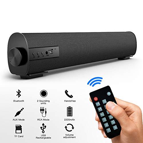 classement un comparer Barre de son TV Stéréo Bluetooth filaire et haut-parleur sans fil USB avec télécommande Subwoofer…