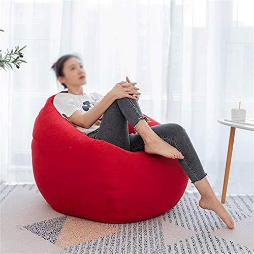 WGYDREAM Puff Pera Sofá Perezoso del Bolso de Haba Tela pequeño sofá Silla de Interior Niños Highback Juego puf, 6 Opciones de Color Bean Bag (Color : Red, Size : Small)