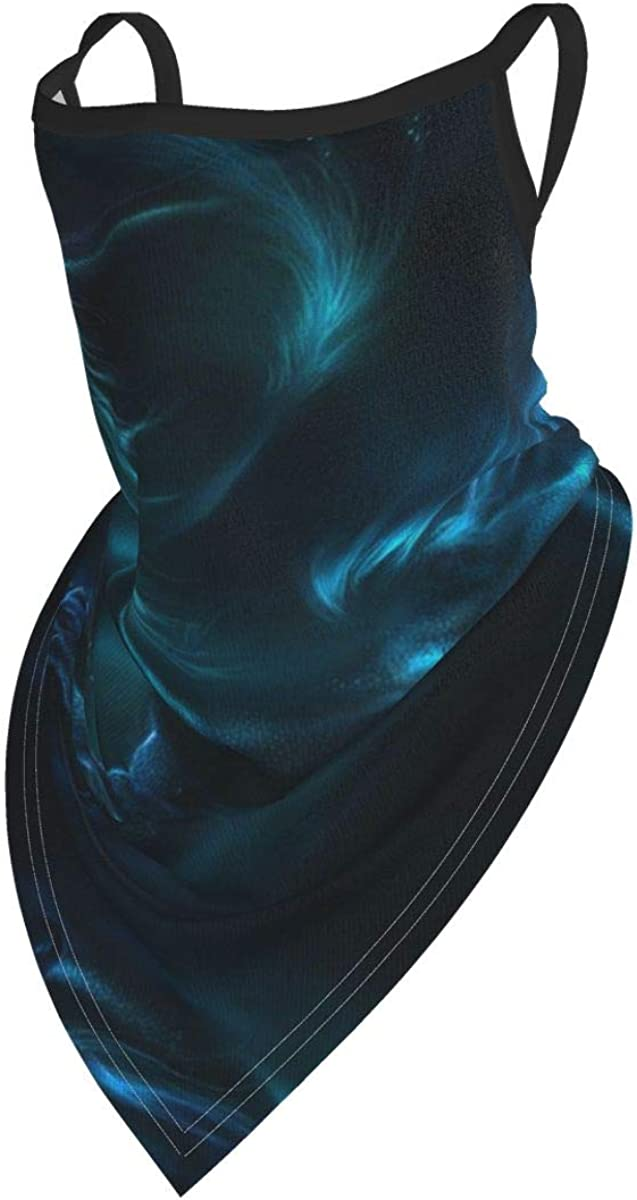 Light Dragon Unisex Face Scarf Neck Gaiter With Ear Loops Balaclava Dust Cover Mask With Filter