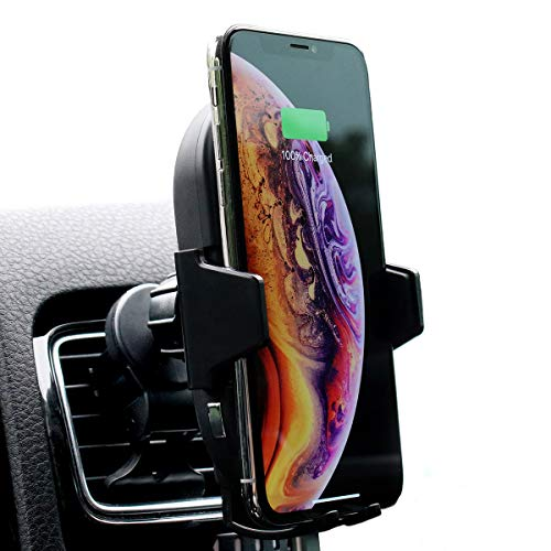 Bolt Car Mount and Qi Fast Wireless Charger with Auto Sense Locking for iPhone X, XS, 8, Plus, Galaxy S10, S9, S8, and Qi-Enabled Devices
