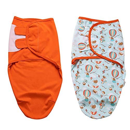 Material cómodo y suave de alta calidad 2 piezas Saco de dormir para bebés Recién nacido Swaddling para Unisex para mantener el calor(M)