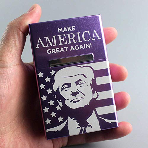 N\C Metal Cigarette Case Cover Aluminum Alloy Cigarette Box Tobacco Box Case Holder Smoking Gift US President Donald J Trump Derivatives Products