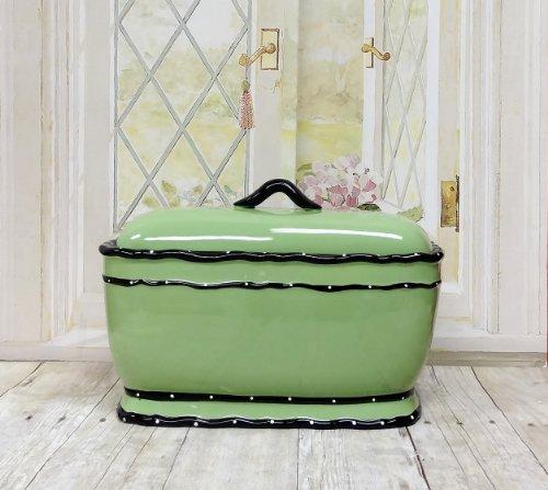 Toskana pistazie grün, Rüsche Brot Box/Toast Jar, 85475von ACK
