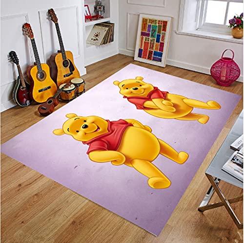 Alfombra Anime Infantil Winnie The Pooh Alfombra Suave Antideslizante para Decoración del Hogar Impresa En 3D G-895B 180X200Cm