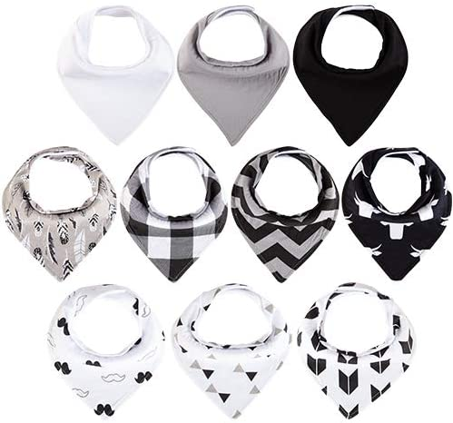 Baby Bandana Drool Bibs for Boys Girls Liueem 10 Pack Baby Bibs 100 Organic Cotton and Super product image
