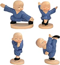 Generic 4pcs/Set Little Monk Statue Figurines Ornament for 6/7cm high Buddha Fu Collectible Zen Buddha Figurine Car Office...