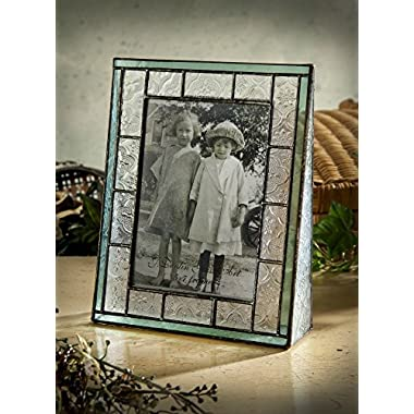 J Devlin Pic 122-57V Picture Frame 5x7 Vertical Photo Frame Green Stained Glass Family Wedding Baby