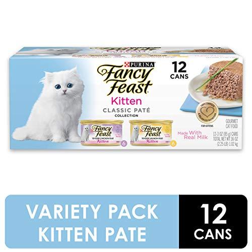 Purina Fancy Feast Grain Free Pate Wet Kitten Food Variety Pack, Kitten Classic