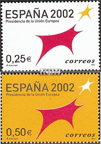 Prophila Collection Spagna Michel.-No..: 3702-3703 (Completa Edizione) 2002 Sedia Spaniens in Unione €uropea (Francobolli per i Collezionisti)