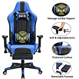 Large Size Gaming Chair High-Back PC Racing Chair Headrest Lumbar...