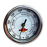 LavaLock 3' Adjustable Gas Charcoal Smoker Pit Grill BBQ Thermometer Electric Heavy Duty Stainless 2.5' stem