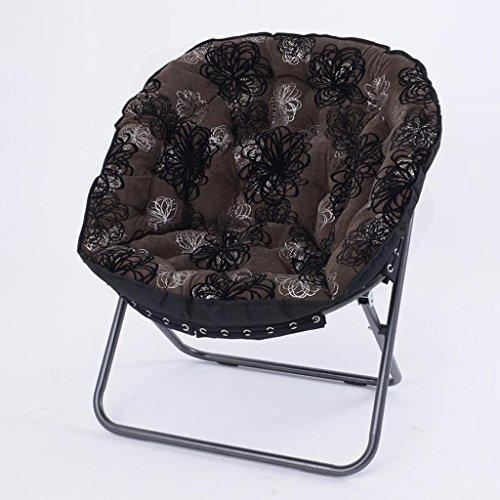 Taburete de sofá Xuan - Worth Having Brown Impresiones Florales en Blanco y Negro Silla Plegable Chaise Longue Lounge Chair Sofa Chair