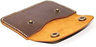 Premium Handmade Leather Card Holder Wallet Card Case with 2 Snap Button