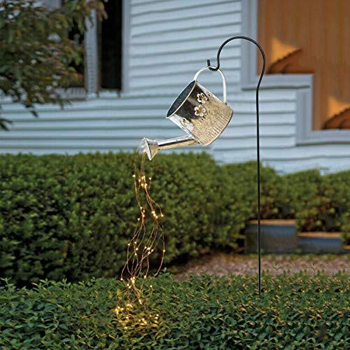 Star Shower Garden Art Licht Dekoration - 80cm LED-Stränge, Gießkanne, Lichterketten Solar LED, Magischer Garten Kunst, Gartenskulpturen & Statuen, Lichterketten für den Außenbereich (mit Ständer)