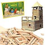 vario Jeu kit de Construction de Chalet en rondins de Bois XL 184 pièces Enfant 5 +