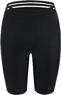 Firpearl Women's UPF50+ Sport Board Shorts Swimsuit Bottom Skinny Capris Swim Shorts