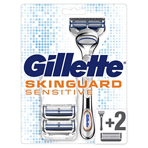 Gillette Skinguard Sensitive Rasierer mit Aloe Vera, 3 Klingen