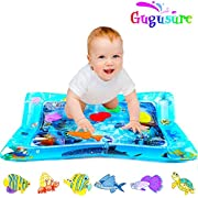 """Gugusure Inflatable Tummy Time Water Play Mat , Indoor and Outdoor Baby Play mat Leakproof, Fun Activity Play Center Your Baby's Stimulation Growth 26""""x20"""""""