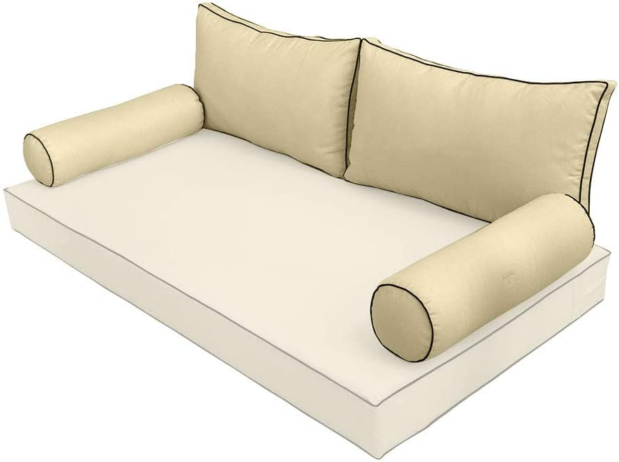 PROLINEMAX Style2 Crib Max 72% OFF Contrast Pipe Pillow Bolster Trim Cu Max 43% OFF Back