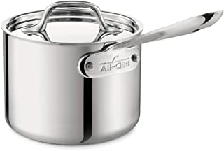 All-Clad 4201 Stainless Steel Tri-Ply Bonded Dishwasher Safe Sauce Pan with Lid / Cookware 1.5-Quart FPS-56392