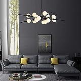 Bxu-bg Bola de cristal de la lámpara LED Compatible with Living Comedor moderno lámparas de techo, lámpara montada Luminaria de suspensión (Emitting Color : Natural Light)