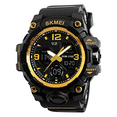 WYZQ Reloj para Mujer, Reloj Deportivo, Reloj electrónico de diseño de Moda a Prueba de Agua Reloj Despertador Digital Reloj Inteligente Digital multifunción led