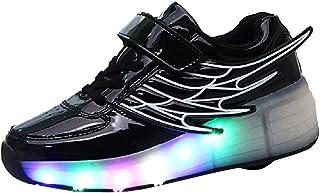 Led Luces Zapatos con Ruedas para Pequeños Niño y Niña Automática Calzado de Skateboarding Deportes de Exterior Patines en Línea Brillante Mutilsport Aire Libre y Deporte Gimnasia Zapatillas con Alas