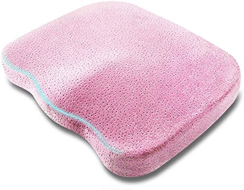 Ashle Breathable Lumbar Support Chair Cushion Seat Cushion Pillow For Office Memory Foam Seat Cushion Orthopedic Chair Cushion Non Slip Chair Pad Relieve Back Pain And Sciatica Pain