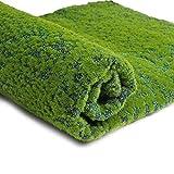 SUPVOX Parche de césped Artificial Alfombra de Musgo Alfombra simulación de liquen Plantas Verdes Falsas para la decoración del Patio del jardín del hogar (Punto Verde)