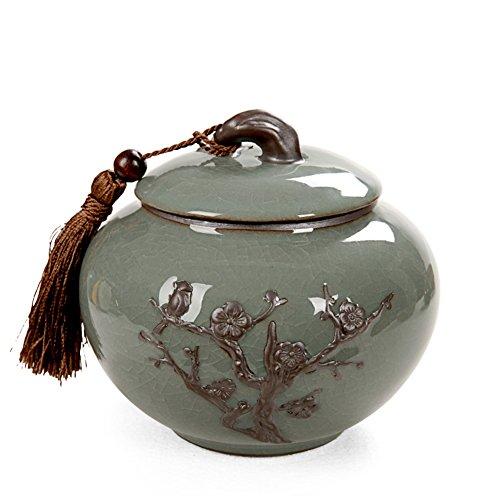 Vaso di porcellana,Canister de thé,Coffres de stockage de thé,Service à thé Pu ' er boîtes de thé Tasse de stockage Lou-A