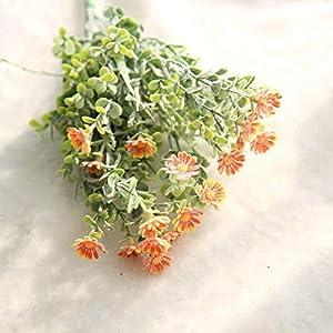 Silk Flower Arrangements Artificial and Dried Flower Artificial Small Daisy Flowers Camellia Grass Chrysanthemum Plastic Flower Party Home Decor Wedding Accessories