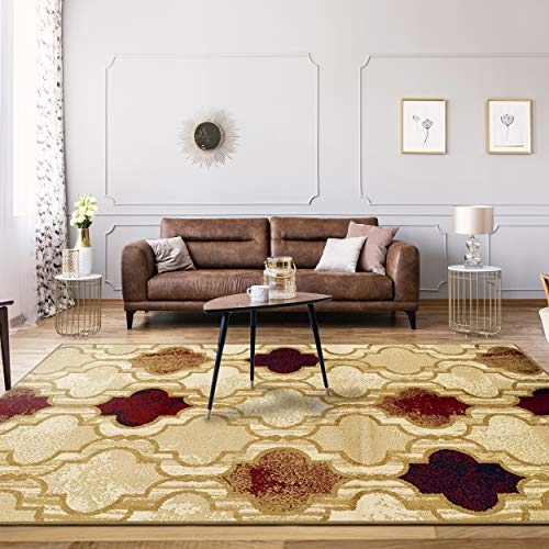Superior-Modern-Viking-Collection-Area-Rug-Pile-Height-with-Jute-Backing-Chic-Textured-Geometric-Trellis-Pattern-Anti-Static-Water-Repellent-Rugs