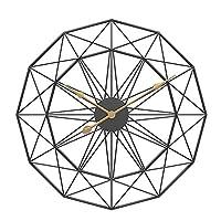 掛け時計 壁掛け 時計 掛け時計おしゃれ 部屋装飾 プレゼント クリエイティブトレンドの高級時計メタルウォールクロック、現代のシンプルホームデコレーションのための大規模なスケルトンウォールクロックサイレントレトロスタイルの鉄のアートウォールクロック (Size : 60cm)