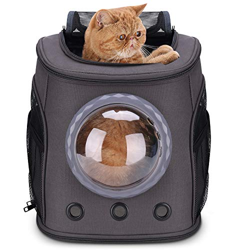 Lollimeow Pet Carrier Backpack, Bubble Backpack Carrier for Cats and Puppies,Airline-Approved...