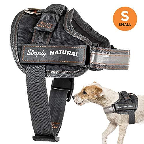 Hundegeschirr von Simply Natural – Kleines Ausbruchsicheres Hundegeschirr Mit Leicht Verschließbaren Klettverschlüssen – Starkes Superweiches Hundegeschirr
