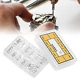 Abrazadera de caja de reloj Adaptador de movimiento Arandela de tornillo de seguridad para ETA2836 / 2824 Enchufe de herramientas de reloj Tuercas de cabeza de botón Kit de arandelas planas Surtido