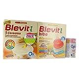 PACK BLEVIT 8 CEREALES CON MIEL 600g.+1 BLEVIT PLUS BIBE 8 CEREALES + 1 BLEMILPLUS 2 OPTIMUN 400G.
