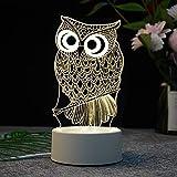 Regalos creativos del USB LED lámpara de Carga lámpara del Tacto Medusas acrílico luz de la Noche extraña Nuevo hogar Inteligente 3D (Color : 12, Size : Remote Control)