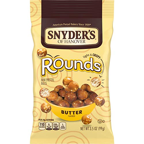 Snyder's of Hanover Pretzels, Rounds, Butter, 3.5 Ounce