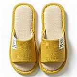 MLLM Uso Interno Suola in Schiuma,Pantofole subarranda da Interno, Pantofole in Cotone Sud-EST Antiscivolo-Giallo_38-39,Antiscivolo Pantofole con Pantofole estive