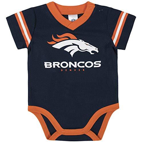 NFL Denver Broncos Team Jersey Bodysuit, Blue/Orange/White Denver Broncos, 3-6 Months