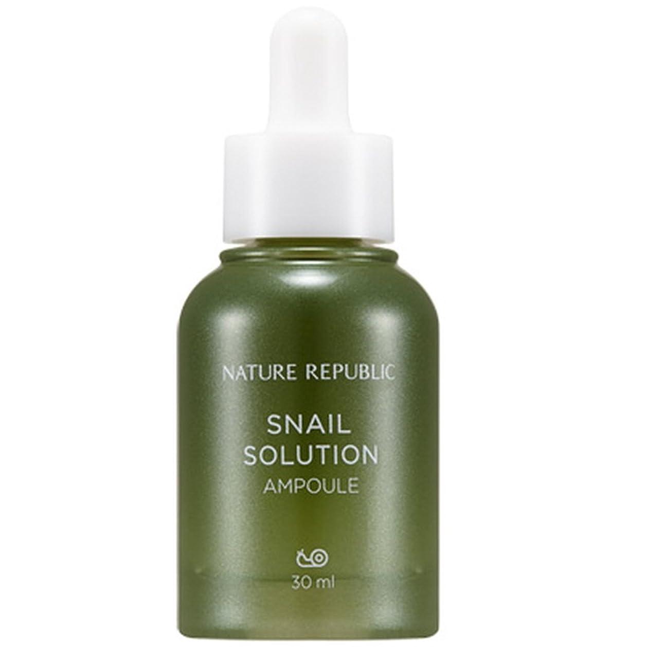 切り下げプラカードピストルNATURE REPUBLIC Snail Solution AMPOULE ネイチャーリパブリック ネイチャーリパブリックカタツムリソリューション アンプル