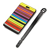 Kofferanhänger PVC Koffer-Tags mit Namensschild Gepäckanhänger Geometrischem Muster Design Koffergepäckanhänger für Kinder Reisender (Typ03)