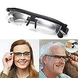Lesebrille Fokus Einstellbare Brille -6D bis + 3D Dioptrien Myopie Brille , Unisex Brille