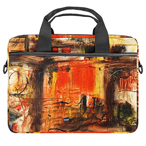 Painting Laptop Bag for Men and Women,Laptop Computer and Tablet Shoulder Bag Carrying Case 15 Inch Durable Office Bag