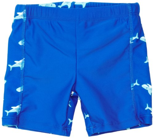 Playshoes Jungen UV-Schutz Shorts Hai Badehose, Blau (original), 98/104