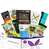 Keto Vegan Snacks Sampler Box 13 Count Low-Carb Snack Gift Box . Vegan and Vegetarian Keto Snacks With Coconut Butter, Pumpkin Seeds, and Chocolate Bars